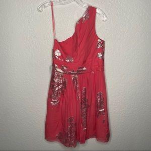 Eliza J Dresses - Eliza J Nordstron NWT One Shoulder Coral  Dress
